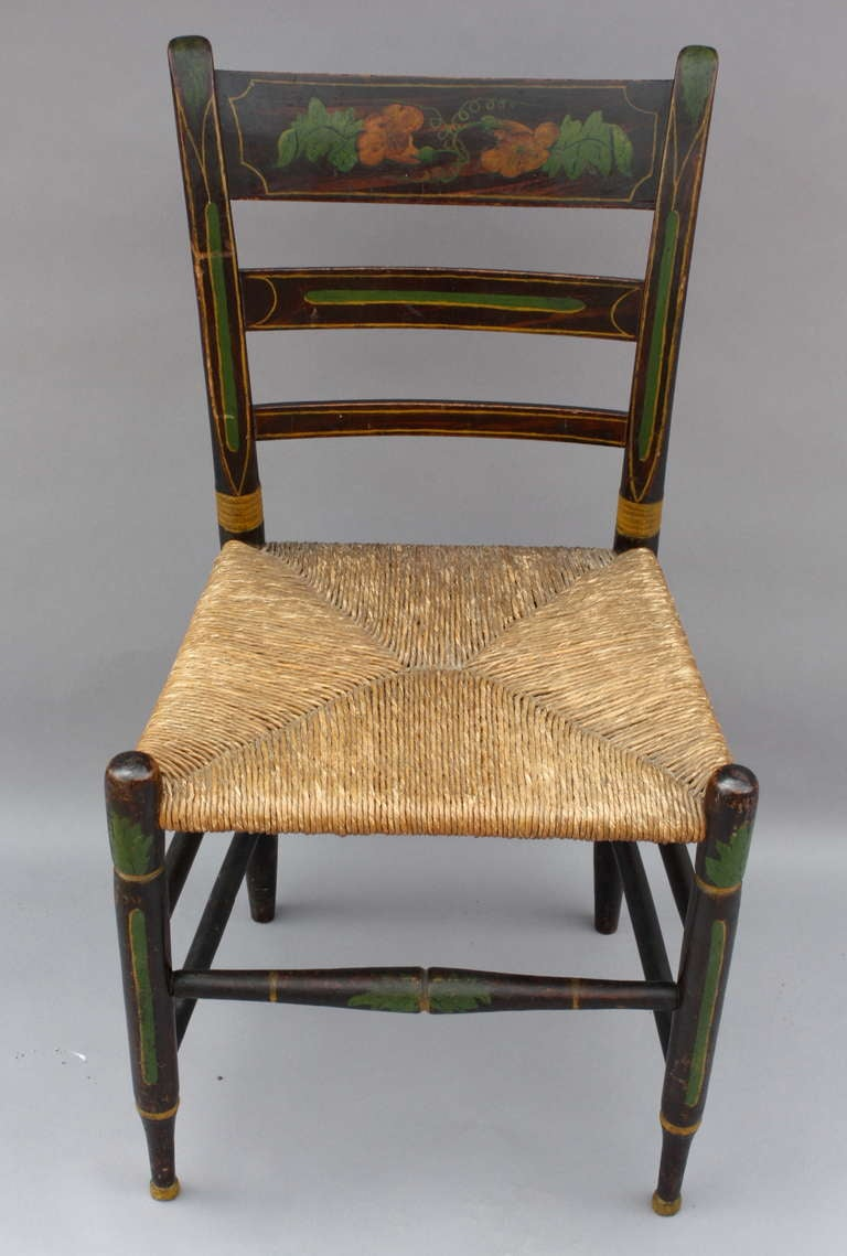 Identify an authentic Hitchcock chair by its mark