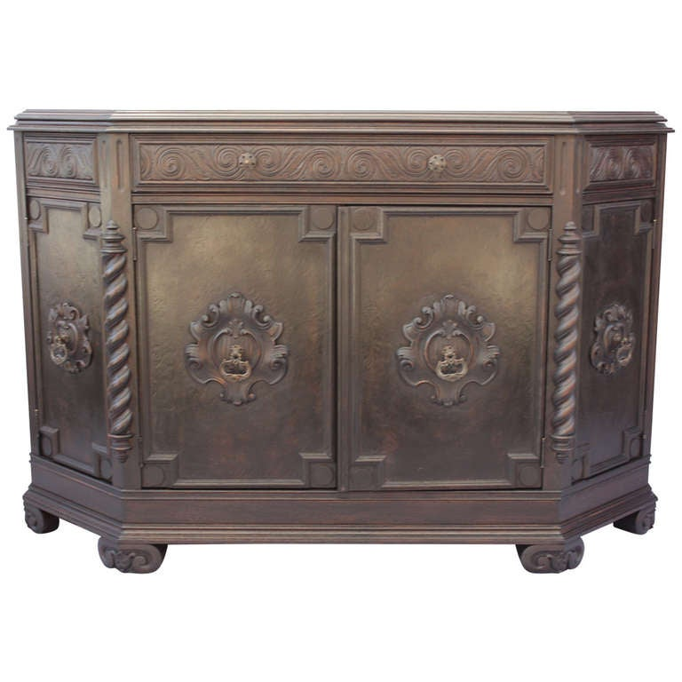 1920s Spanish Revival Cabinet at 1stdibs