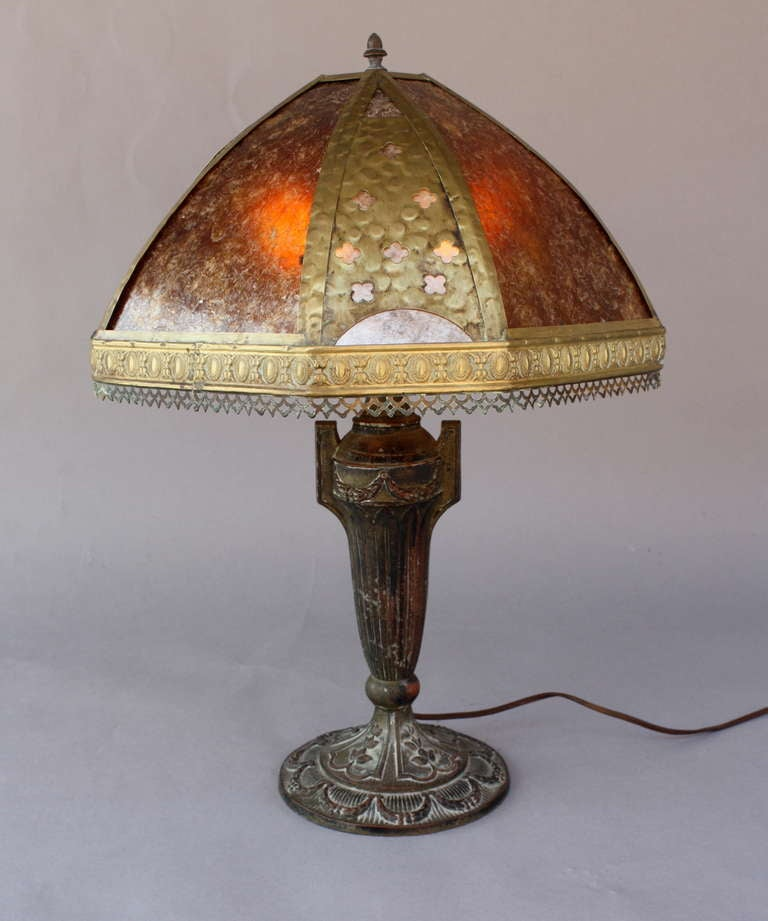 1920 39 s table lamp with mica shade at 1stdibs. Black Bedroom Furniture Sets. Home Design Ideas