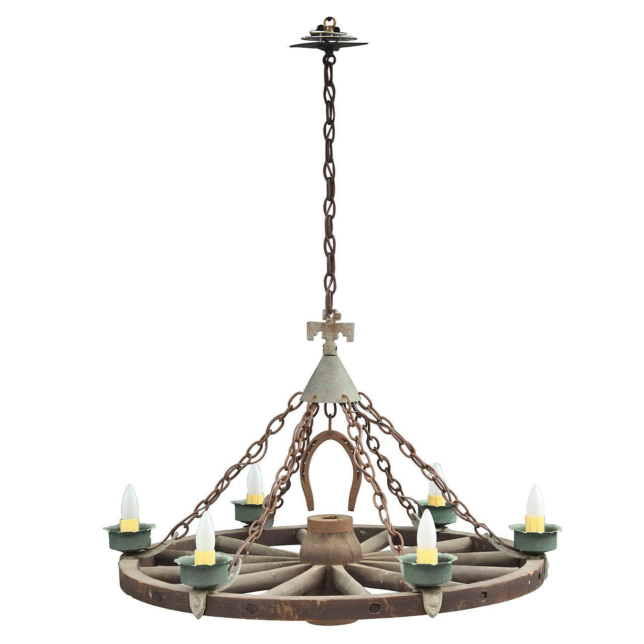 Large Scale Monterey Period Chandelier At 1stdibs