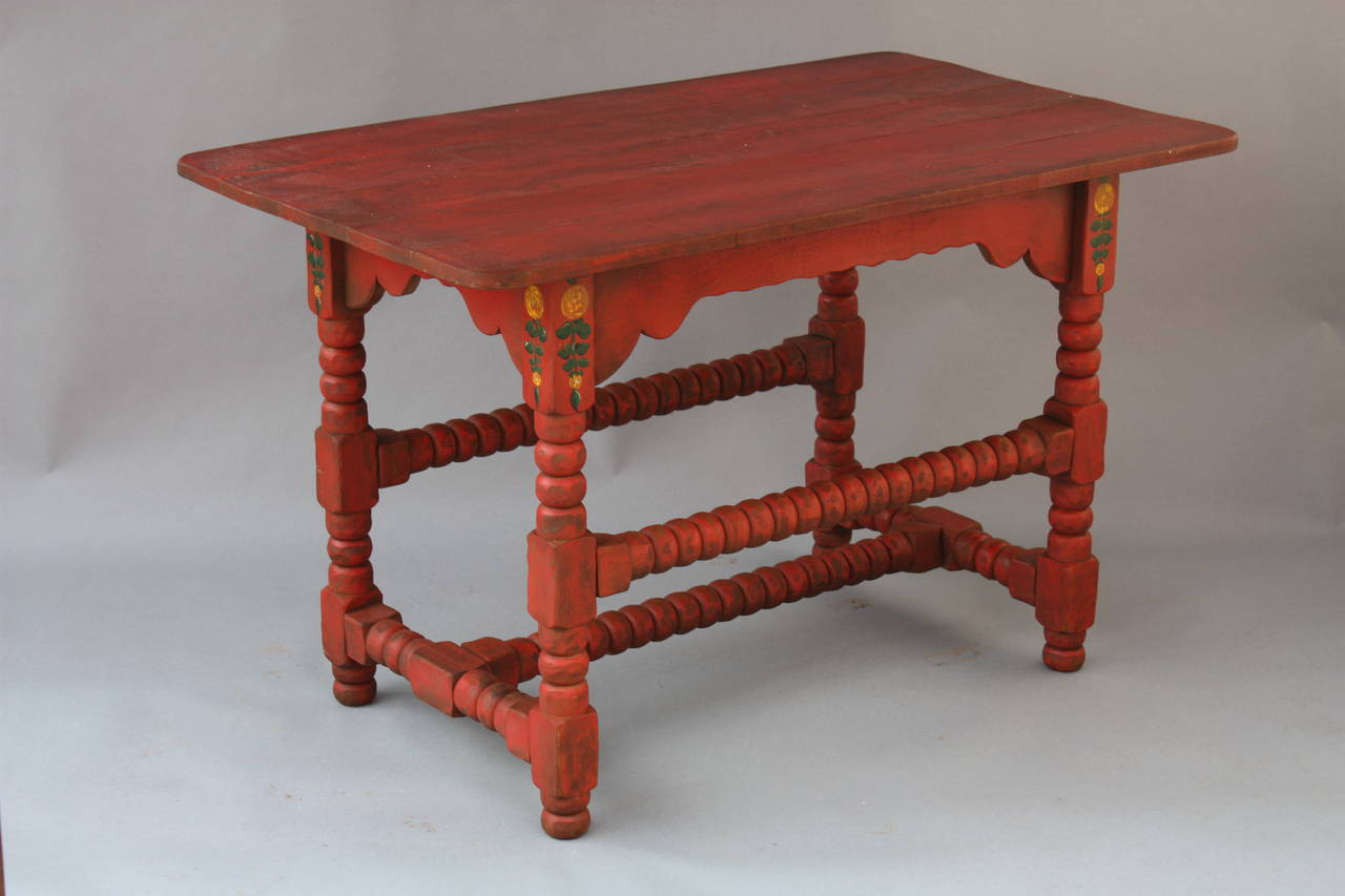 Antique Monterey Rancho Red Table At 1stdibs