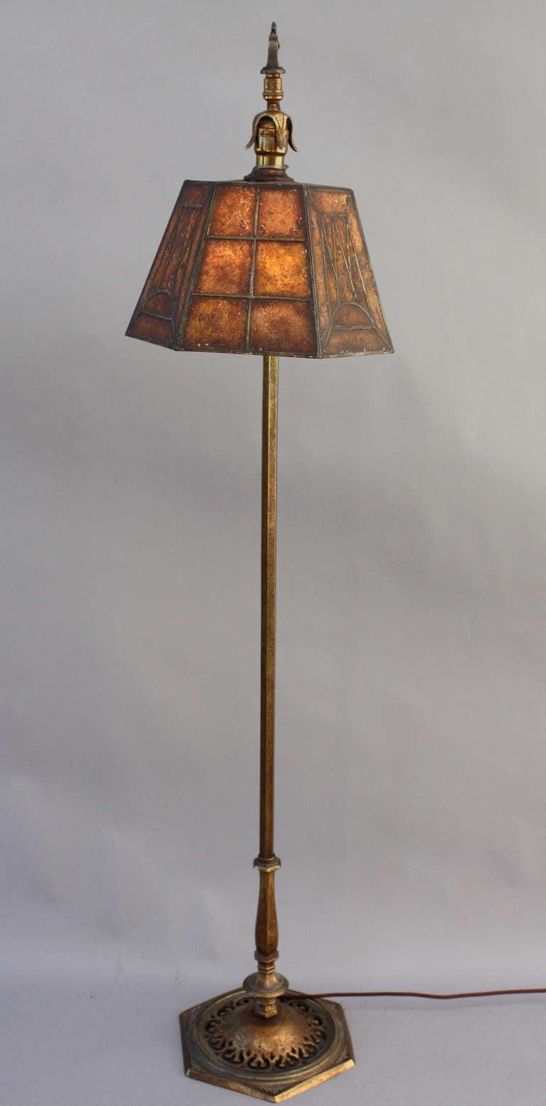Beautiful 1920 S Mica Bridge Lamp At 1stdibs