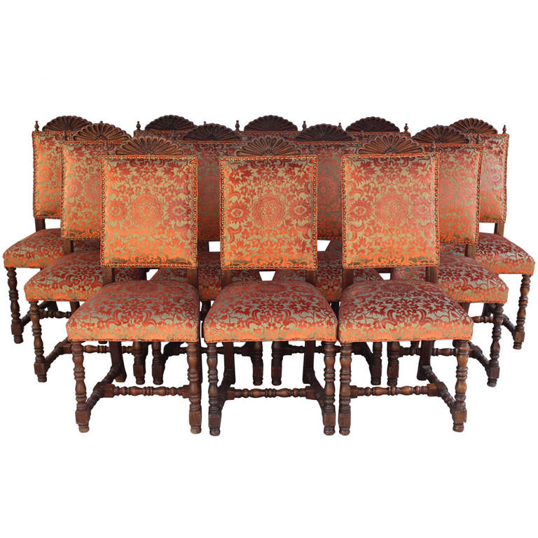 Superb 1920u0027s Set Of 12 Spanish Revival Style Chairs 1
