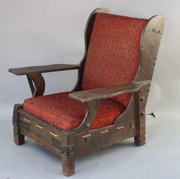 Charmant Circa 1930u0027s All Original Monterey Wing Back Chair. Monterey Signature On  Back Apron. Metal