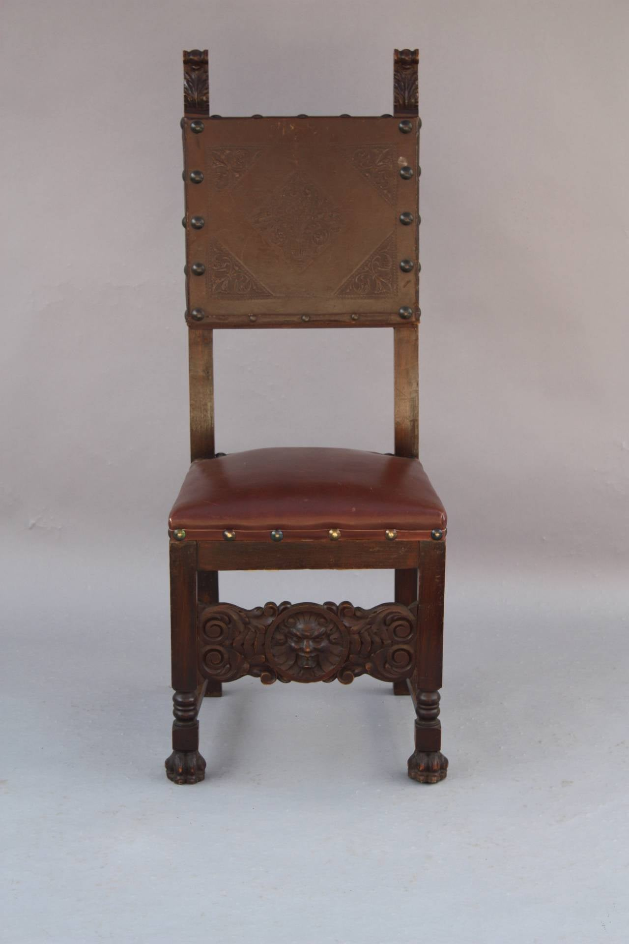 Set of Six Spanish Revival Chairs at 1stdibs