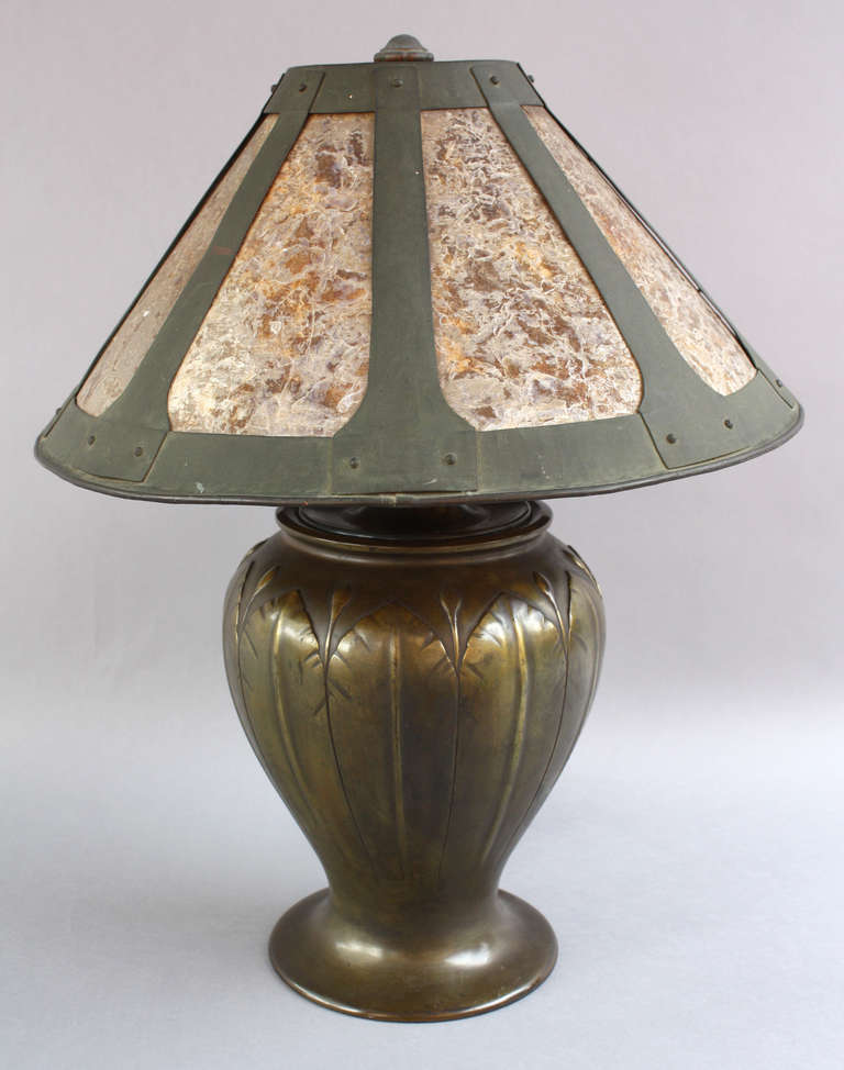 elegant 1910 arts and craft lamp for sale at 1stdibs. Black Bedroom Furniture Sets. Home Design Ideas