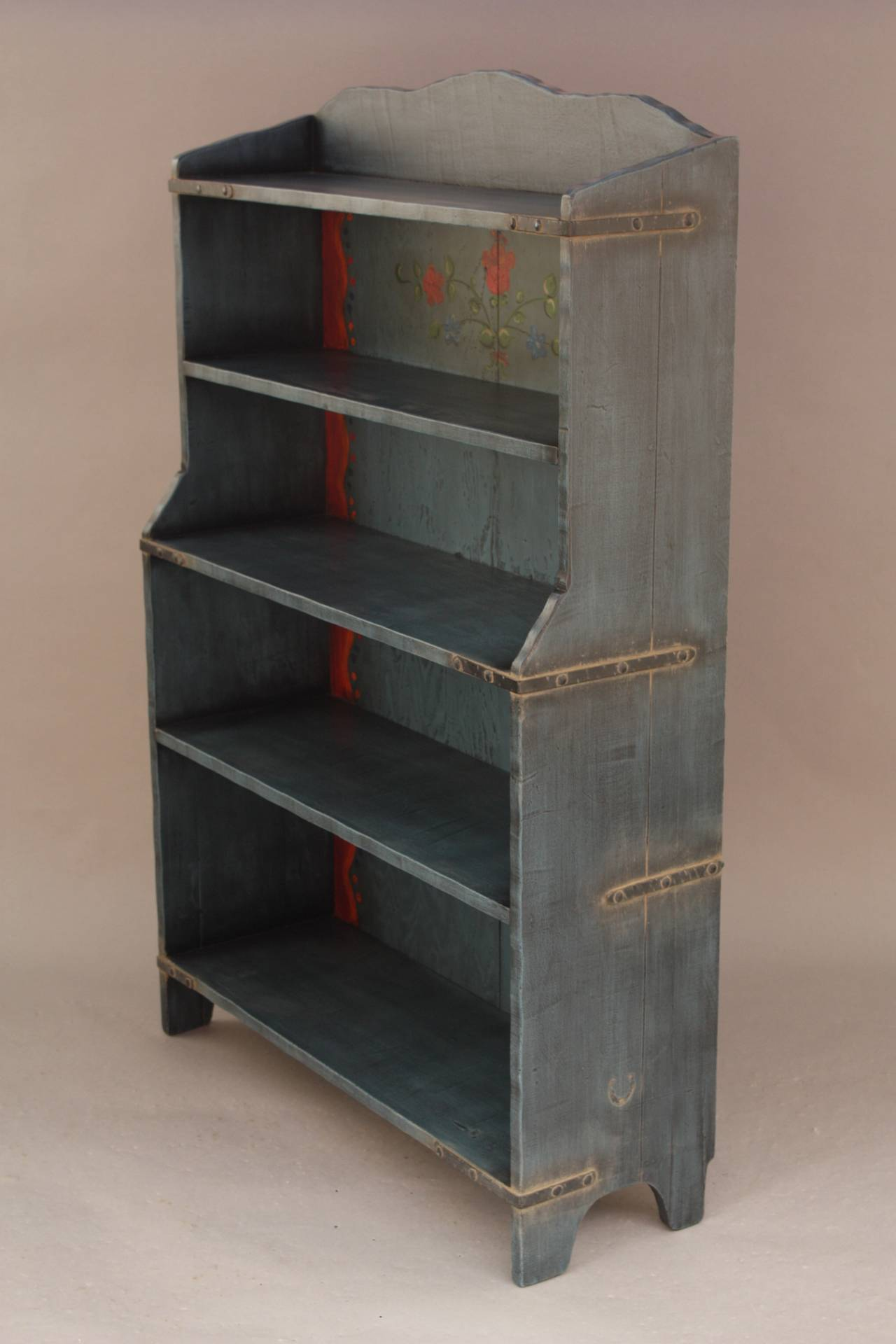 Blue Bookcase Endearing Of Barker Monterey Furniture Antique Picture