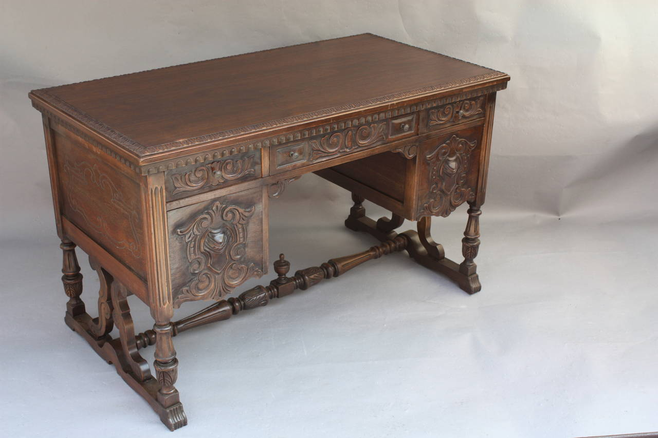 1920u0027s Los Angeles Made Desk Bye The Angelus Furniture Cie. Beautifully  Craved With Lots Of