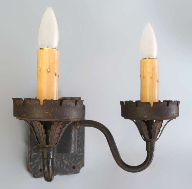 1920s Spanish Revival Double Sconce at 1stdibs