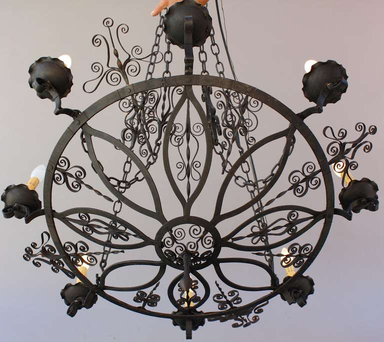 1920 S Large Chandelier With Delicate Scroll Work At 1stdibs