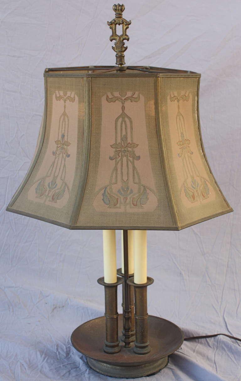 1920s Elegant Table Lamp With Metal Mesh Shade At 1stdibs