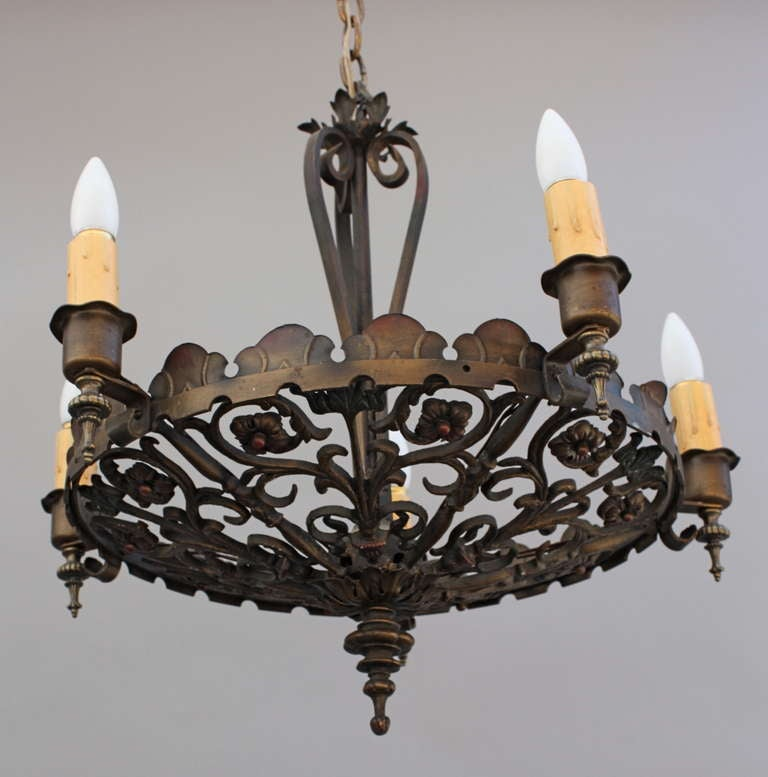 Beautiful 1920 39 S Spanish Revival Chandelier At 1stdibs