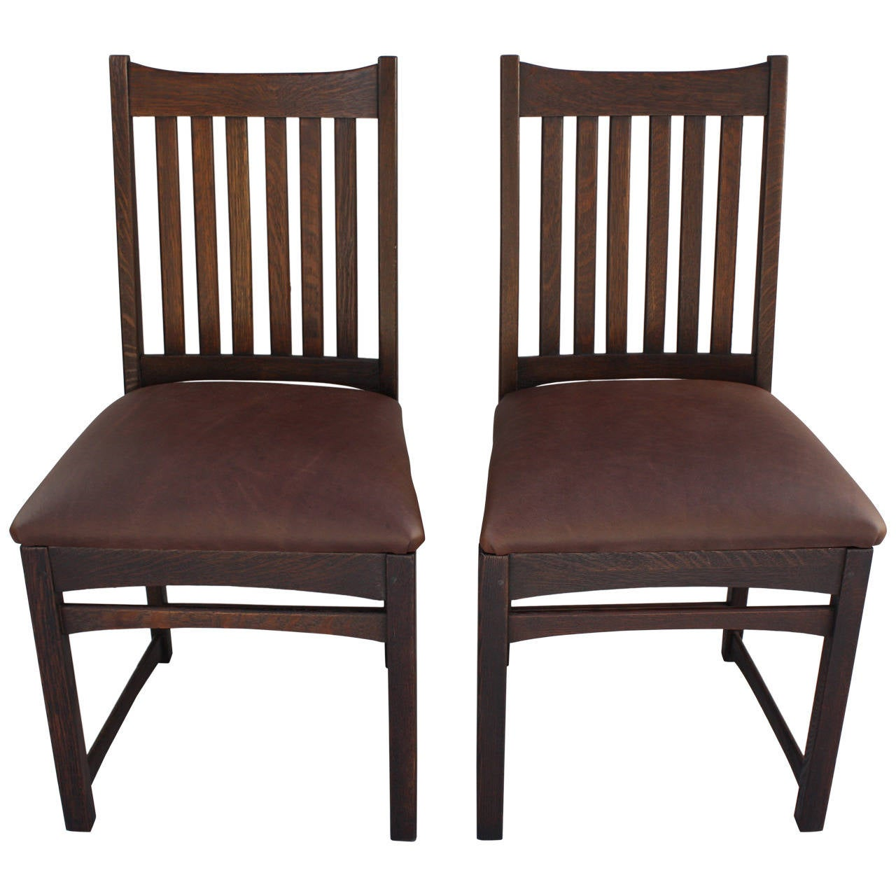 antique pair of lifetime art and crafts mission side