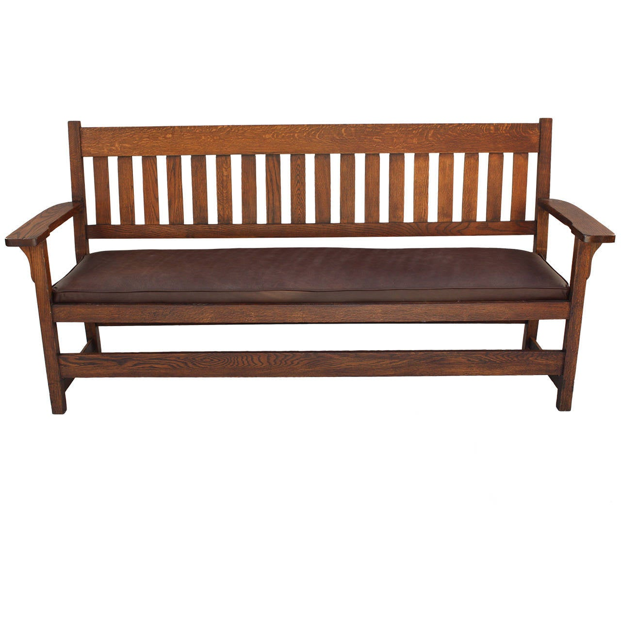 Long Mission Arts And Crafts Bench Or Settee Circa 1910 At 1stdibs