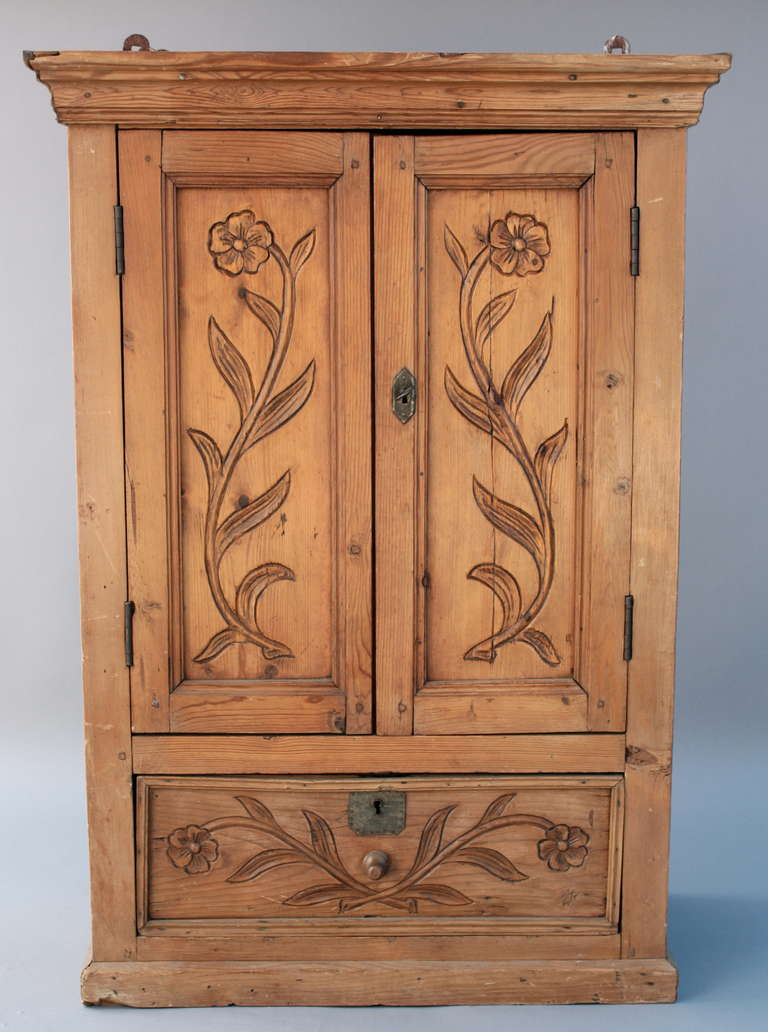 1800's Mexican Wall Cabinet at 1stdibs