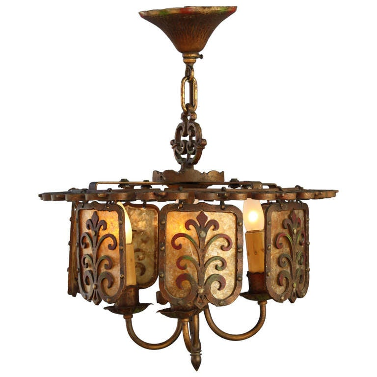 1920s All Original Spanish Revival Chandelier At 1stdibs