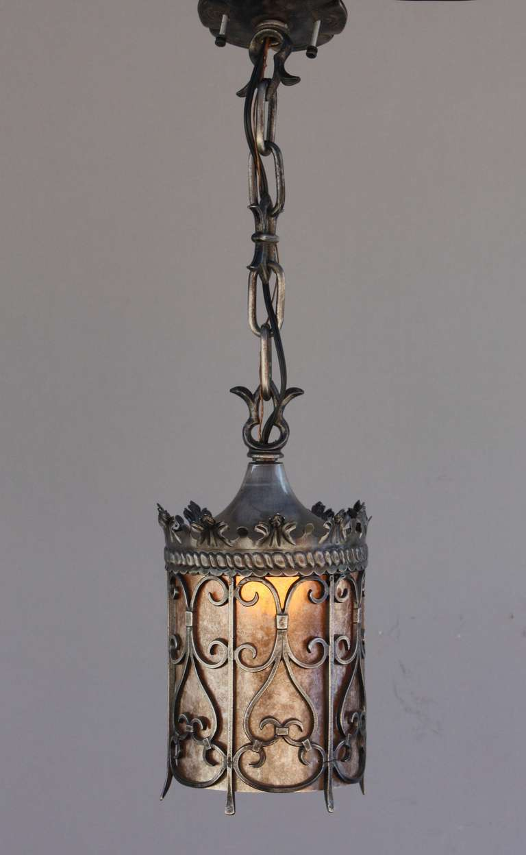 1920s spanish revival pendant at 1stdibs for Spanish revival lighting