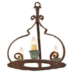 1920s Simple Monterey Period Chandelier
