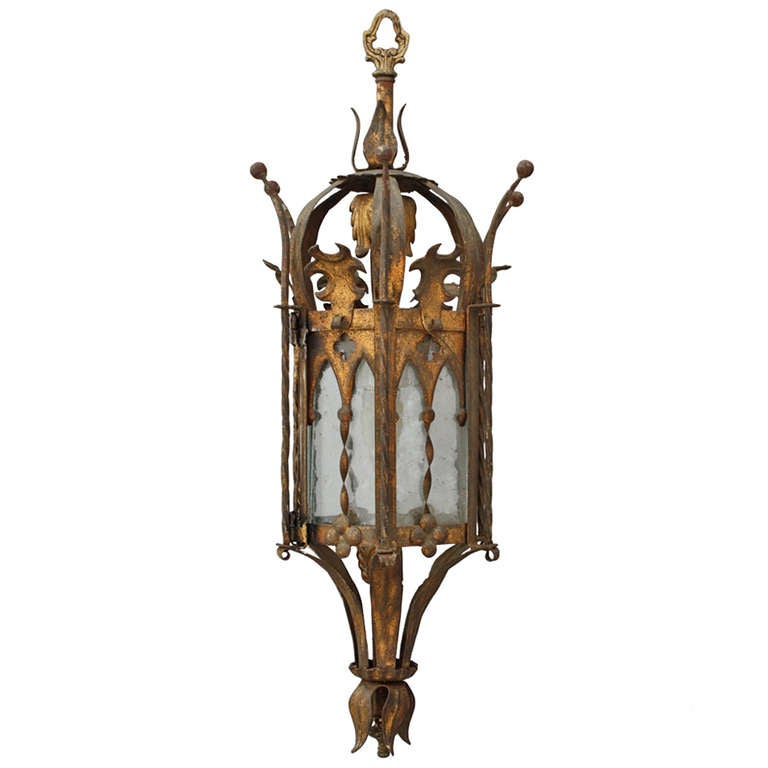 Spanish revival gothic pendant fixture at 1stdibs for Spanish revival lighting fixtures