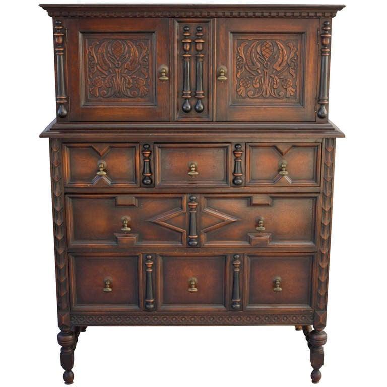 Grand spanish revival dresser at 1stdibs - Grande commode baroque ...