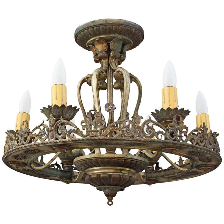 Large Spanish Revival Chandelier At 1stdibs