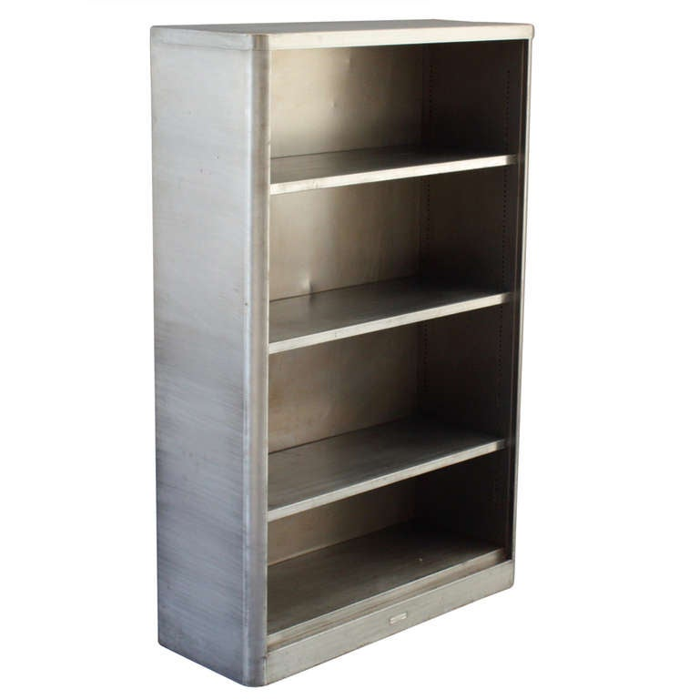 Industrial Metal Bookcase At 1stdibs