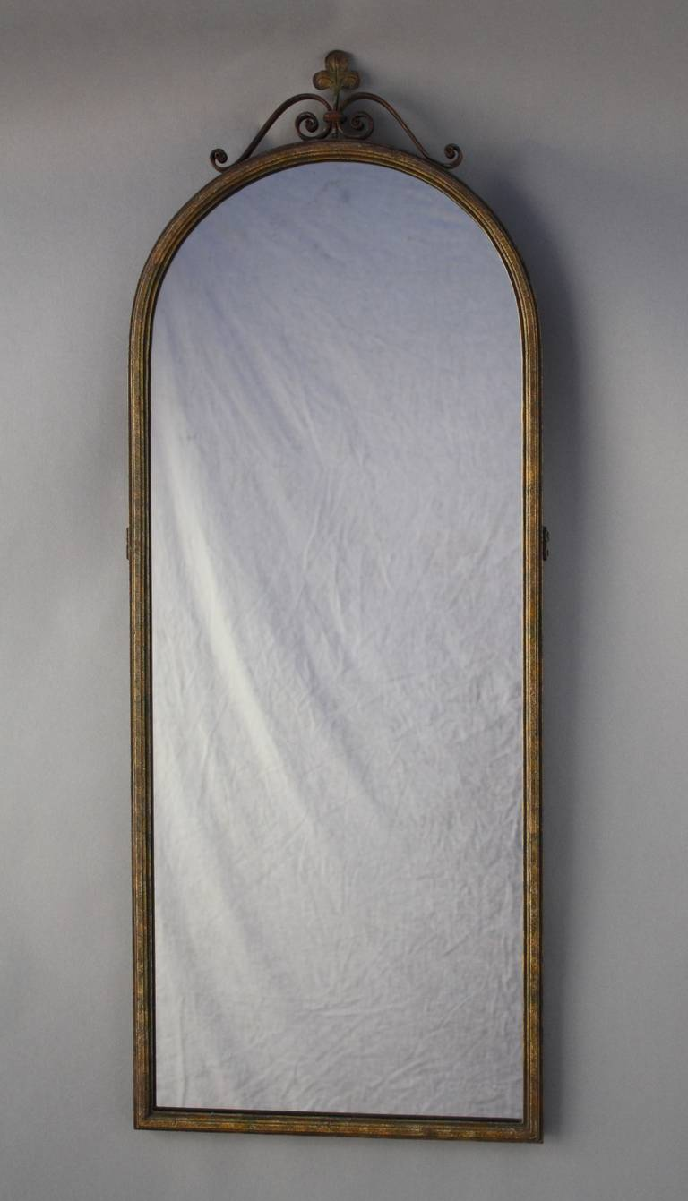 1920s spanish revival long narrow mirror at 1stdibs for Narrow mirror