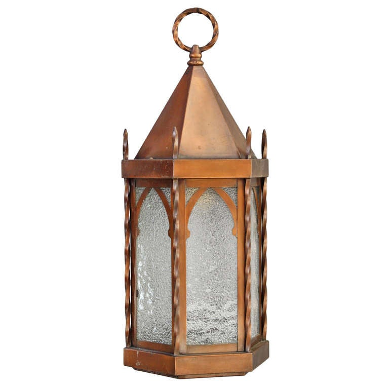 Tudor Brass Lantern With Gothic Details At 1stdibs