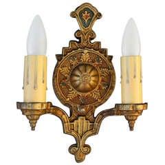 1- Spanish Revival Double Sconces