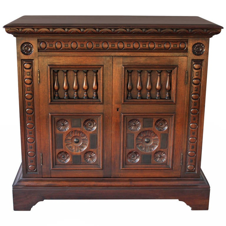 Antique 1920s Spanish Revival Cabinet By Kittinger At 1stdibs