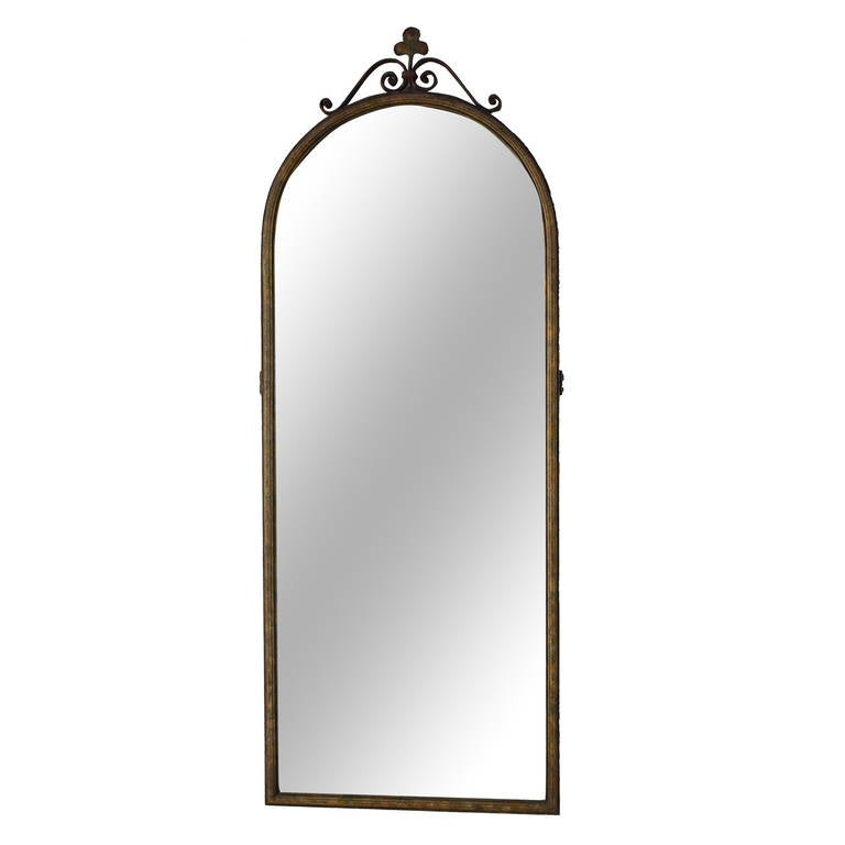 1920s spanish revival long narrow mirror at 1stdibs for Long narrow mirrors for sale