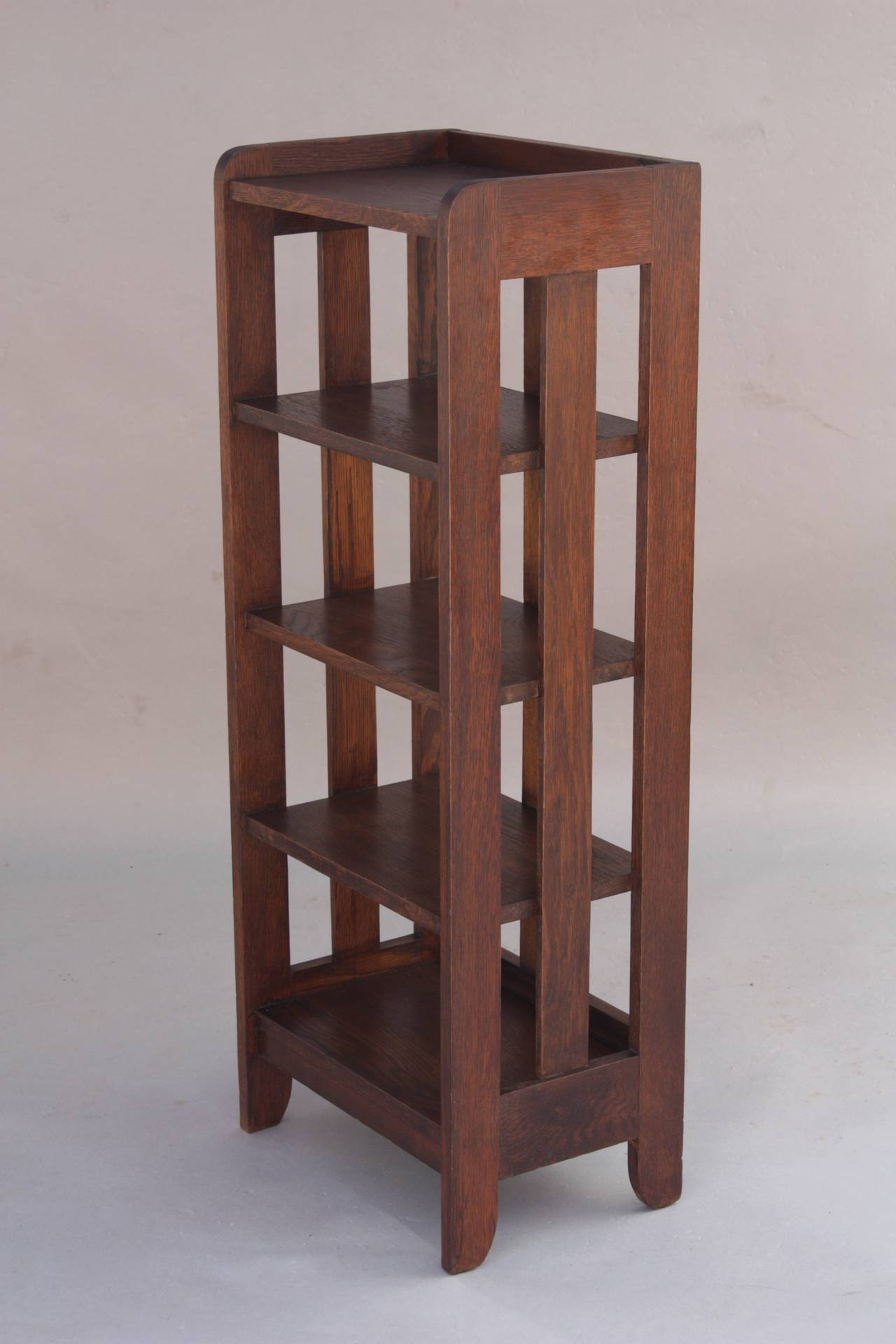 Arts And Crafts Tall Magazine Stand Or Small Bookcase At 1stdibs