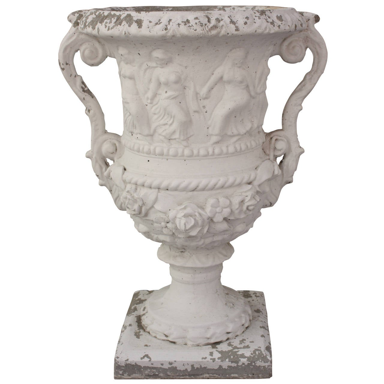 Ornate Cement Planter At 1stdibs