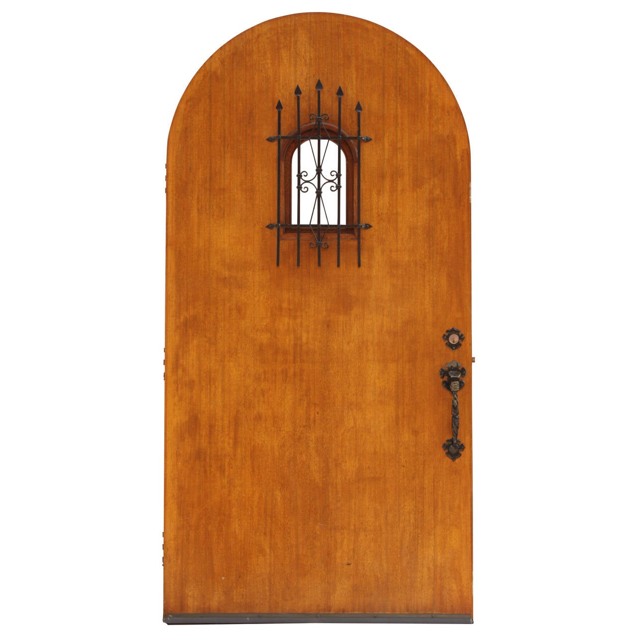 Antique 1920s Original Ached Spanish Revival Front Door At