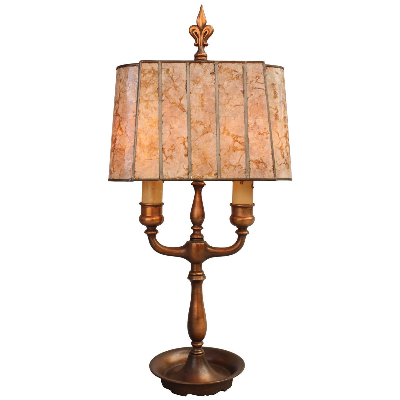 Vintage 1920s Mica Table Lamp With Narrow Profile At 1stdibs