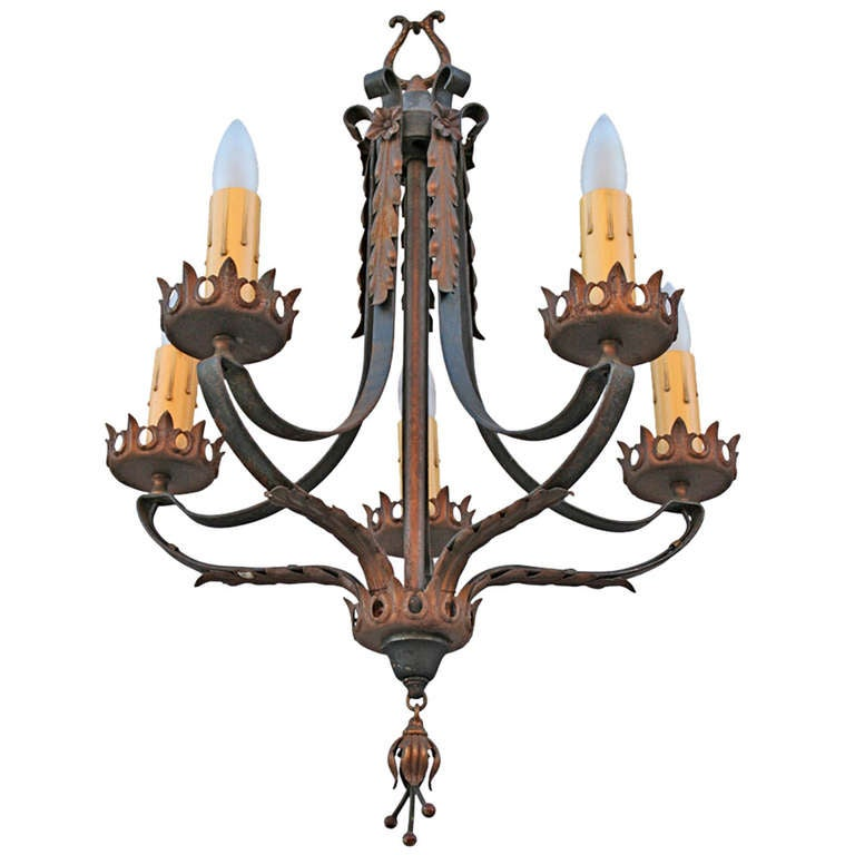 Spanish revival chandelier at 1stdibs for Spanish revival lighting