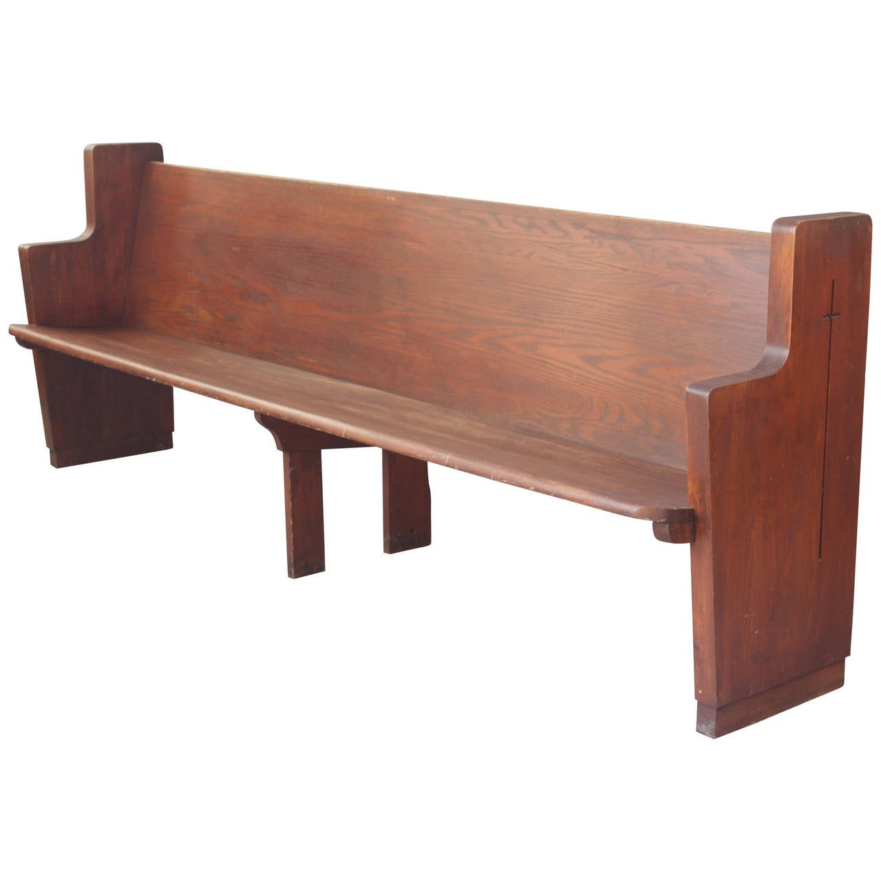 Long Church Bench At 1stdibs