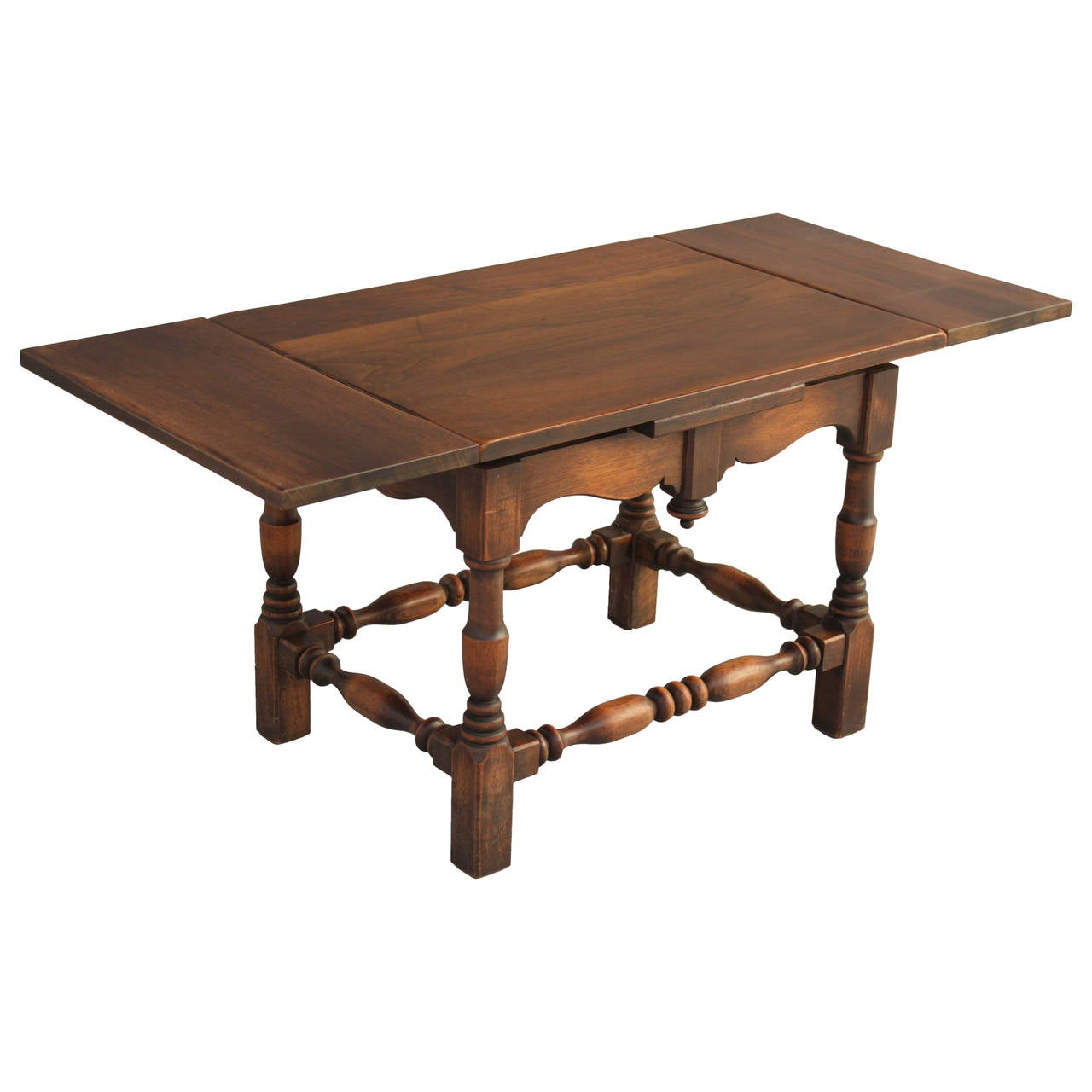 Small walnut side table at 1stdibs for Tiny side table