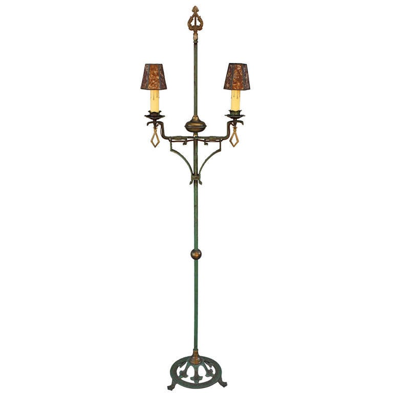 192039s floor light with original finish for sale at 1stdibs for 1920 s wood floor lamp