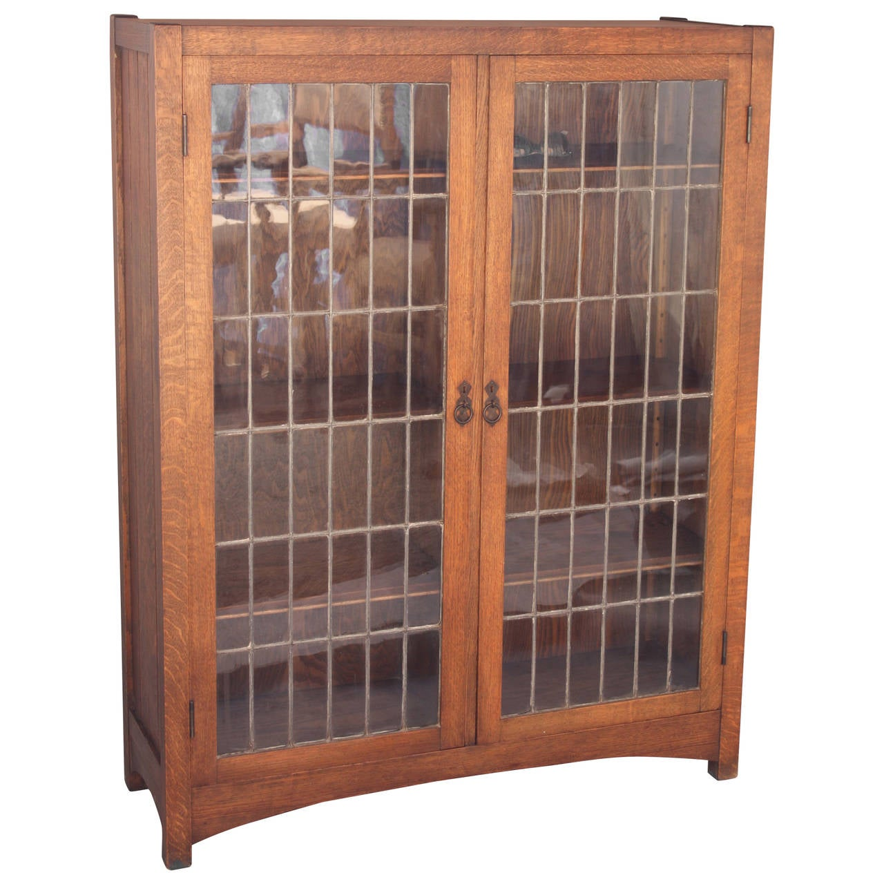 antique 1910 arts and crafts double bookcase at 1stdibs. Black Bedroom Furniture Sets. Home Design Ideas