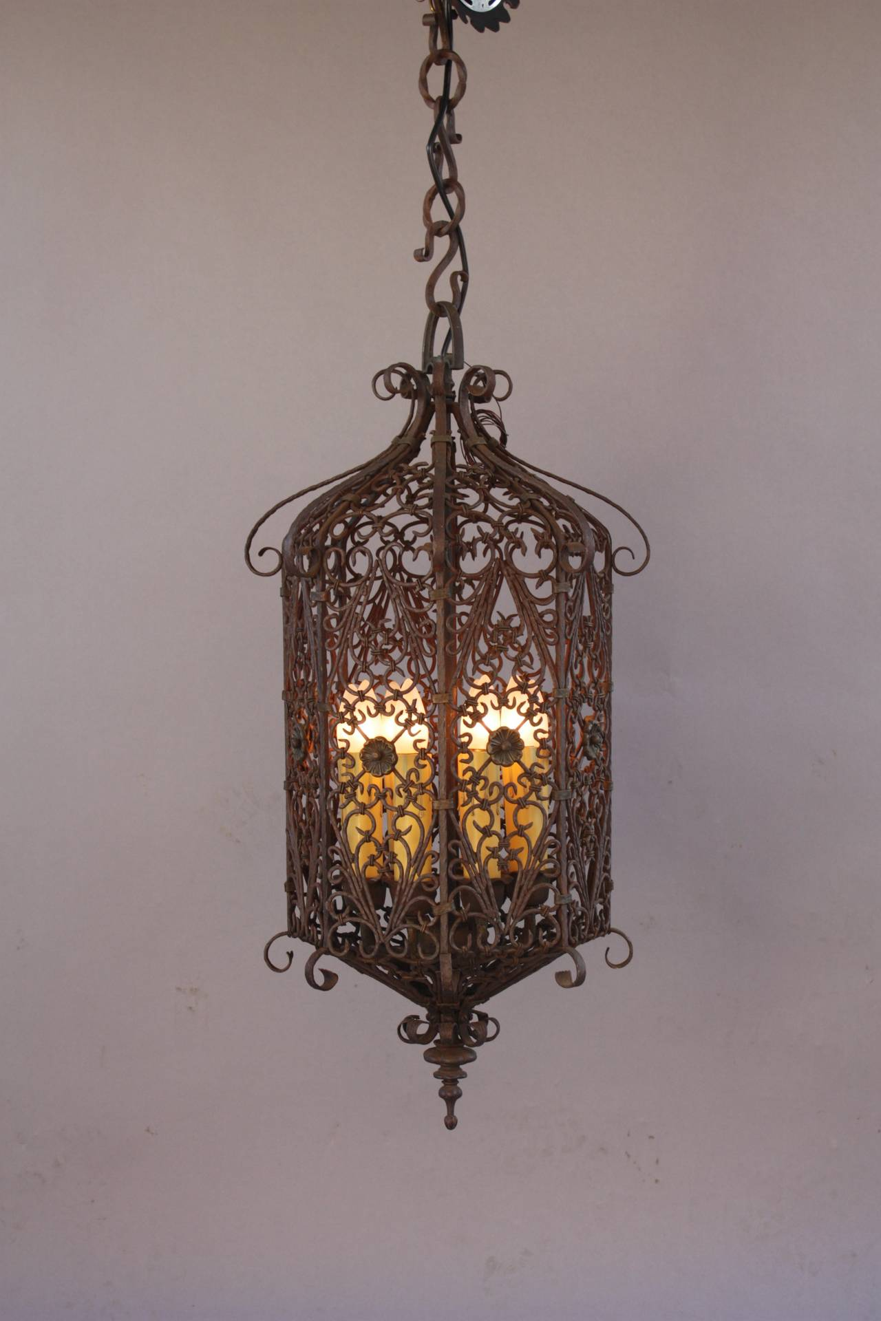 Spanish Revival Pendant With Filigree At 1stdibs