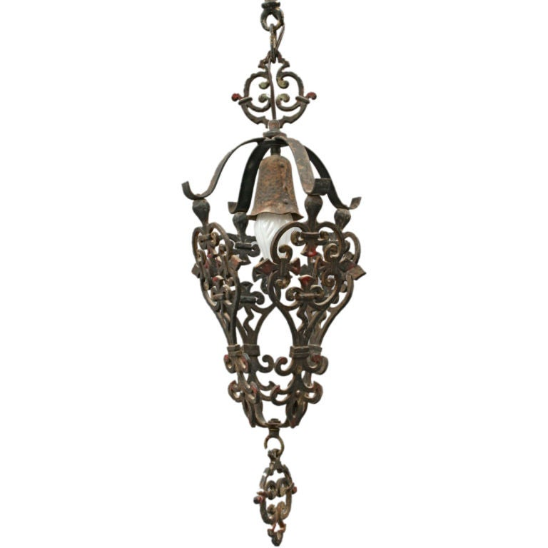 1920 39 S Spanish Revival Pendant Fixture At 1stdibs