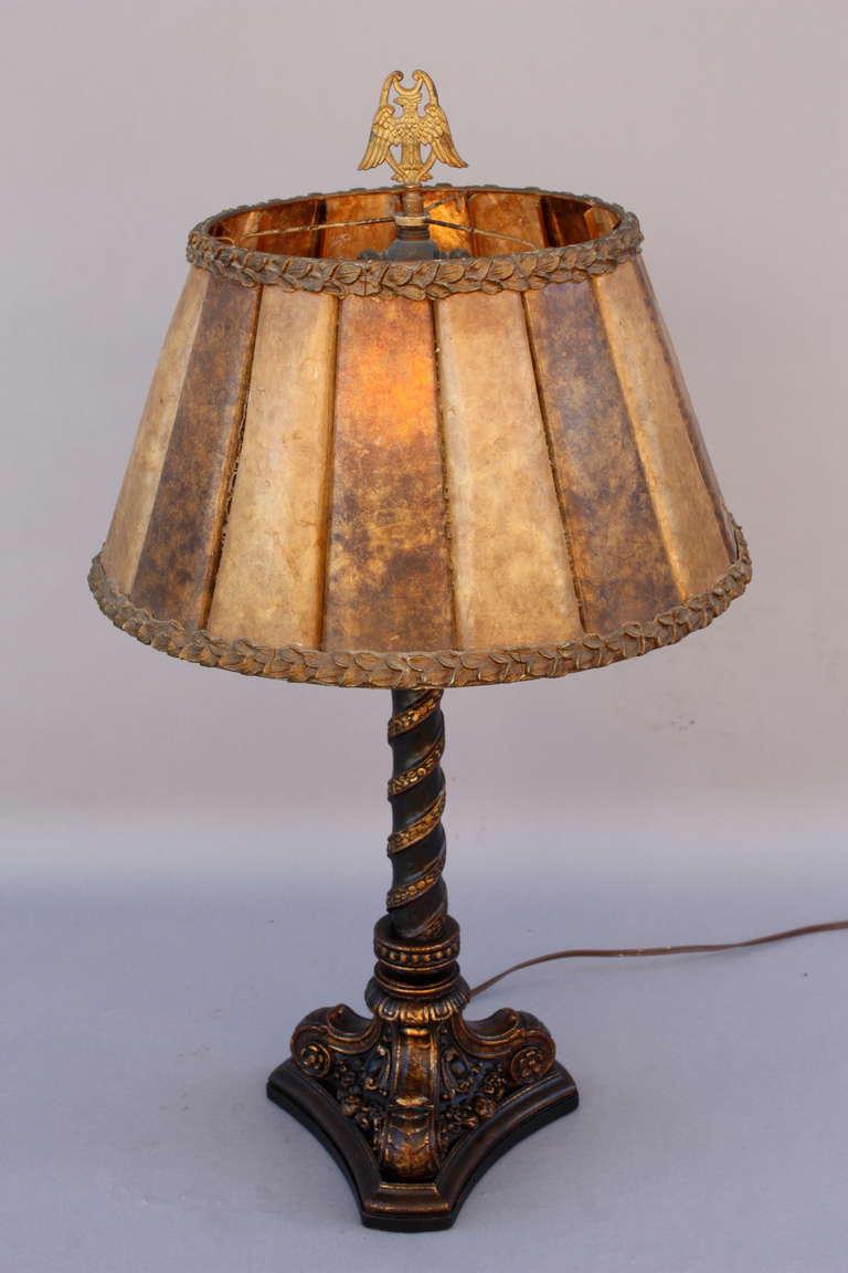 1920 39 s carved wood polychrome table lamp at 1stdibs. Black Bedroom Furniture Sets. Home Design Ideas