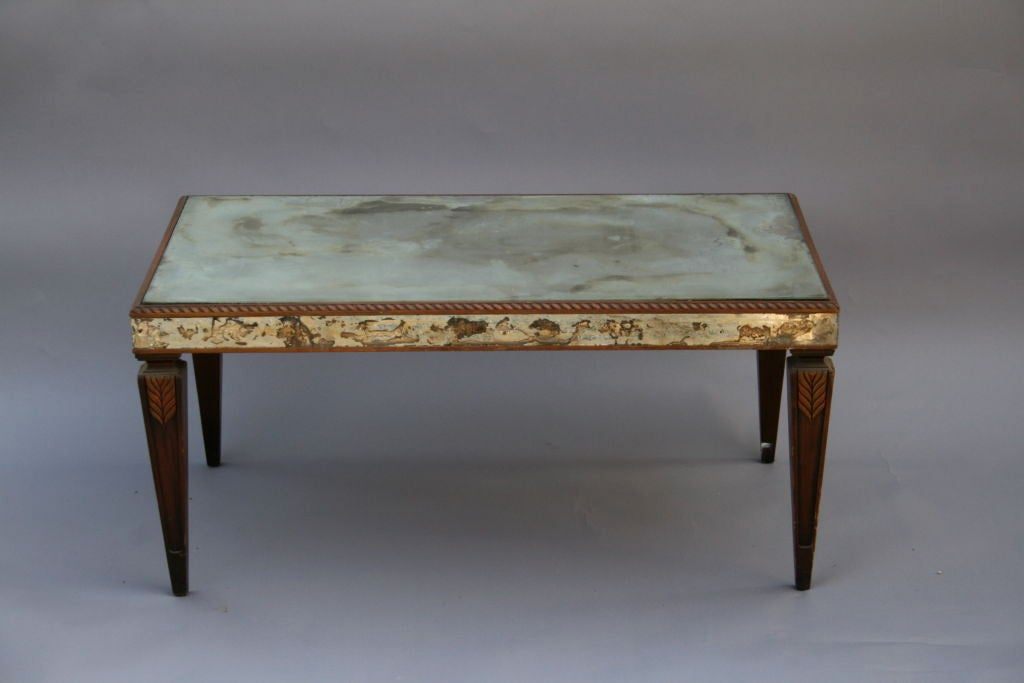 Vintage Mirrored Coffee Table with Wonderful Patina 3