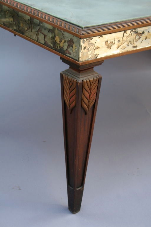 Vintage Mirrored Coffee Table with Wonderful Patina 5