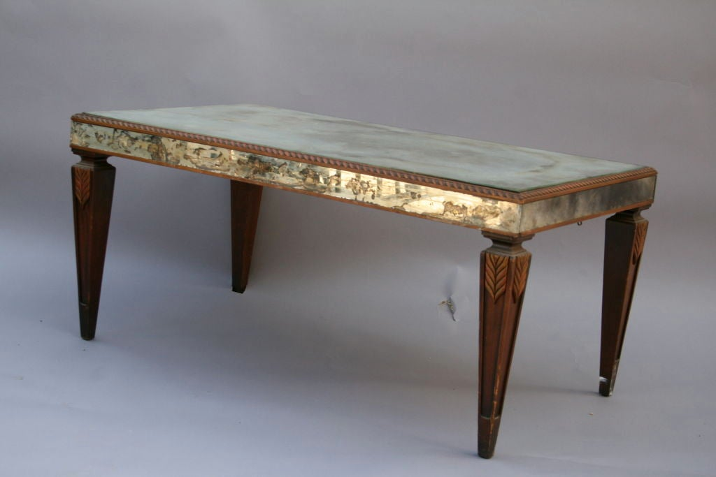 Vintage Mirrored Coffee Table with Wonderful Patina 6