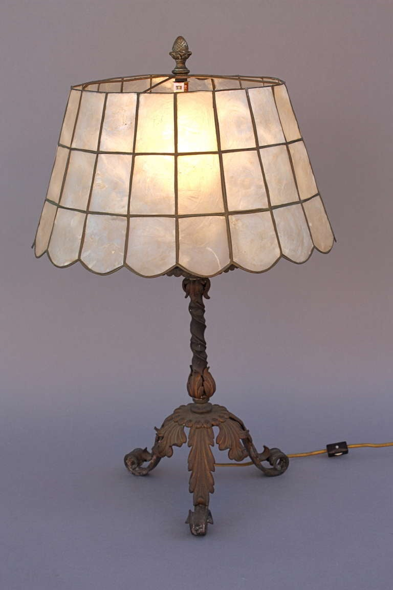 1920s Wrought Iron Table Lamp At 1stdibs