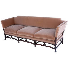 Custom Walnut Spanish Revival Sofas