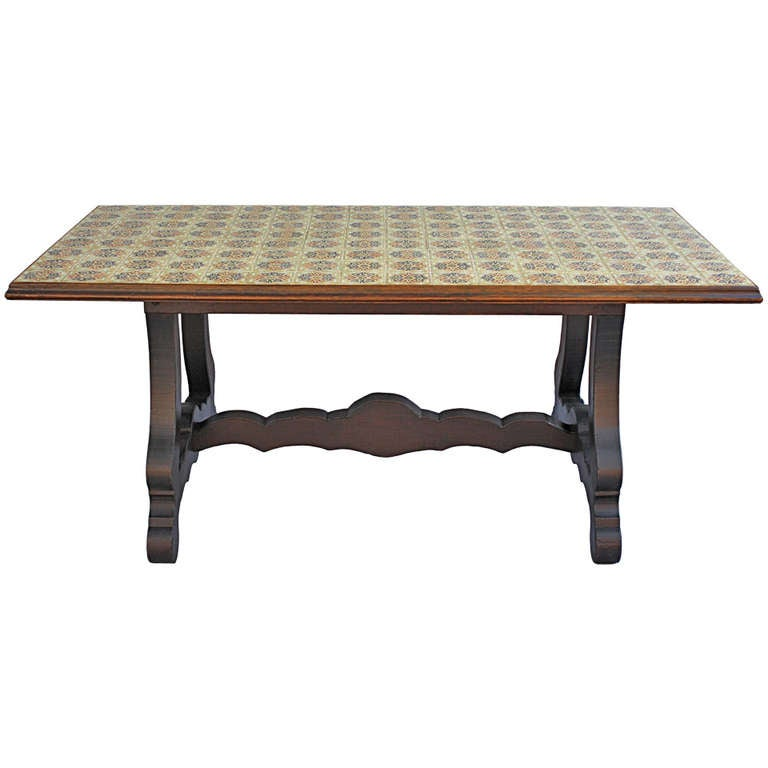 this large tiled dining room table is no longer available
