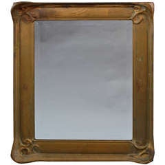 Circa 1910 Carved Wood Mirror